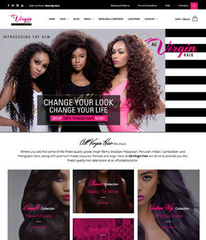 Mymentech worked on allvirginhair website